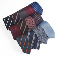 Cravrances à col pour hommes pour hommes Stripe Flower Floral Jacquard Necktie Fête De Mariage Skinny Cravate Homme cadeau