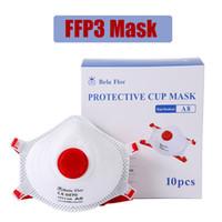 FFP3 قناع الوجه مع صمام الغبار واقية تنفس أقنعة حماية 5 طبقات أزياء قابلة لإعادة الاستخدام أقنعة الفم المدني EN149: 2001