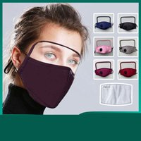 Goggles and Mask One Piece Lavabile Lavabile Reusable Fashion Mask Maschera per adulti Maschere Dust-Proof Proof Haze Design Stampato FaceMask Style Style Style