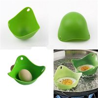500pcs Free Shipping Silicone Egg Poacher Cook Poach Pods Kitchen Cookware Poached Baking Cup Random Colors