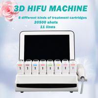 Portátil 11 líneas 3D HIFU Máquina de ultrasonido enfocada SMAS HIFU CARACTERIOR CORTE CORREA COREA AMAZONE Máquina para adelgazar para el salón