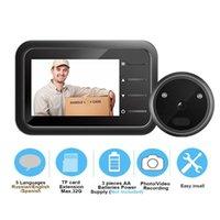 Dörrklockor Peephole Video Doorbell Camera Video-Eye Auto Po Record Electronic Ring Night View Digital Door Viewer Home Security