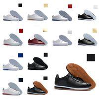 Nike Classic Cortez Classic Cortez Casual Rose Noir Blanc Blanc Blanc Blanc Léger Poids pas cher Chaussures Cortez Coating Sneakers 36-44