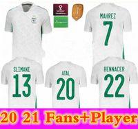 Top Thai Maillot Algerie Player الإصدار 2020 2021 Soccer Jersey Home Away Mahrez Bounedjah Fegholi Bennacer Atal 20 21 Algeria Mailleot de F