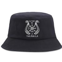 와이드 브림 모자 Vikings Valhalla 어부 모자의 승리 유니섹스 코튼 파나마 모자 야외 선 스크린 비치 태양 모자 접이식 거리 양동이