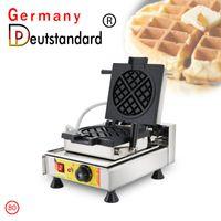 Ekmek Makineleri Stil Ticari Aperatif Makinesi Belçika Liège Waffle Makinesi Yapışmaz Döner Yüksek Kaliteli Fırın Ekipmanları ile Döner