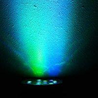 Новейший дизайн 30W 18-RGB светодиодный авто / голосовой контроль DMX512 движущаяся головка высокой яркости Мини-сценическая лампа (AC 110-240V) черный * 10 высокое качество