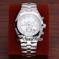 Продажа Новые зарубежные 5500V / 110A-B075 белый циферблат A2813 Автоматические мужские часы SS стальной браслет STVC (без хронографа) STVC часы SwissStime.