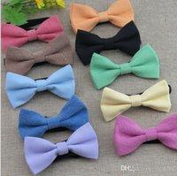 Bowtie sólido para niños Copia Cowboy Bow Tie11 Colores Ajuste la hebilla Bowknot Necktie Lazo ocupacional para el regalo de Navidad