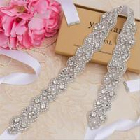 Courroies de mariage en strass de luxe pour femmes diamants Beltte Beltte Bridal Sash Accessoires de mode de mariage Robe de soirée Robons Al7855