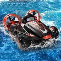 JJRC 2. 2 en 1 Amphibious RC Drift Control Remoto Control remoto Hovercraft Speed Boat RC Stunt Coche Juguetes al aire libre Regalo para niños Niños LJ201209