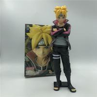 23 см Наруто Узумаки Boruto Действие рисунок Модель игрушки с черной базой аниме Naruto Uzumaki Naruto Son Uzumaki Boruto PVC фигура 201202