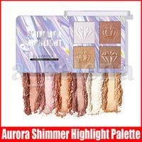 4 ألوان Langmanni Chameleon Highlighter Palette Face Contour ماكياج تسليط الضوء على برونزي توهج أورورا شيمر تسليط الضوء على مستحضرات التجميل 2 أنماط