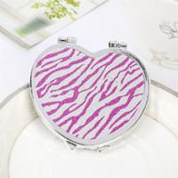 Kompaktowa ręka Lustro Korea Cute Cosmetic Makeup Cartoon Lustra Portable Fold Originality Mini Dwudni Okrągły Prezent Nowy Przyjazd 0 55kx M2