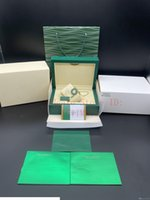 Top Qualität Grüne Uhrenbox Geschenkkasten für 116610 Uhren Booklet Karte Tags und Papiere in Englisch Schweizer Uhren Boxen Handtasche Fall