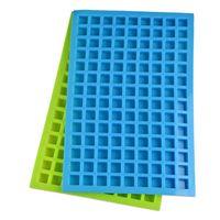 Summer Silicone Ice Molds 126 Lattice Portátil Cubo Quadrado Chocolate Doces Jelly Molde de Cozinha Cozimento Suprimentos W106