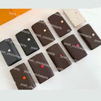 6 Schlüsselhalter mit Box Verpackung PU-Leder Key Halter für Geschenkbox Kleine Lederwaren Designer Schlüsselhalter mit Kasten zum Verkauf
