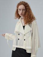 Оригинальный дизайн AIGYPTOS 2020 Весна Летние Женщины Элегантная Черная Куртка Повседневная Свободная Красивая Тонкий Дышащий Короткий Пальто Одежда1