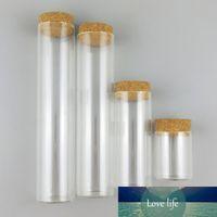 500 x Gran Alto Borosilicato Botellas rectas de vidrio Tubos de prueba de corcho Favores de boda Mostrar contenedores de vidrio 60ml 120ml 230ml