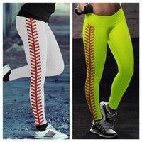 S-3XL Leggings Softball Donne da donna Sweat Sweat Pants Spandex Leggings Neon Softball Stitch Yoga Sport Atletico Pantaloni da matita da corsa E122307