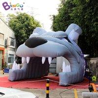 Personalizado 4.8x4.5x3.8 metros túnel inflável gigante do buldogue / tendas infláveis / túnel de futebol brinquedos infláveis esportes