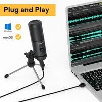 MAONO USB ميكروفون المكثف تسجيل الكمبيوتر الشخصي ميكروفون للاجتماع التدريس عبر الإنترنت الألعاب LivestReaming مع حامل ترايبود AU-PM461TR1