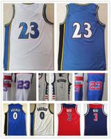 NCAA Erkekler Bradley 3 Beal 4 Westbrook Jersey Yeni Gri Kırmızı Mavi Beyaz # 23 MJ Yüksek Kalite Retro Vintage Klasik Gilbert 0 Arenas Basketbol Jer