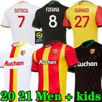Новый 2021 RC Линза прочь Футбол Джетки Grackit Virtes Cahuzac Perez 2020 2021 RC Линза Maillot De Foot Camisa de futebol Мужские футболки