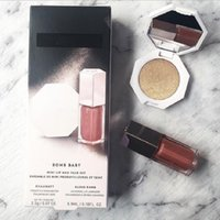 화장품 메이크업 매트 액체 립스틱 립글로스 + 기초 형광펜 얼굴 설정 분말 팔레트 2in1 Bronzer Lipgloss 세트
