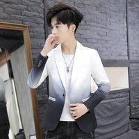 Herrenanzüge Blazer Halozeroo Herrenjacke Casual Slim Fit Mantel Mischfarbe Größe M-3XL Weiß Rot Gelb One Button Männliche Jacken Busin