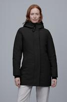 Sıcak Moda Erkekler Ve Kadınlar Kış Aşağı Ceket Casual Baskı Sıcak Tutmak Kış Parmaka Çift Kış Aşağı Ceket Kanada Dış Giyim