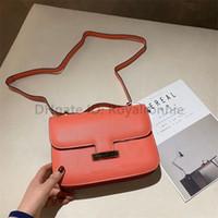 2021 Diseñador de lujo H Consejo Moda Mujeres Satchel Bolsas Llano Metálico Ilustraciones Hilo Bloqueo Hasp Flap Interior COMP LADY TOTES Handbags 5A