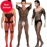 Dessous Heiße Anziehungskraft Teddy Bodysuits Netting Körperstrumpf Porno Cosplay Spaß Unterwäsche Sexy Kostüme Intimates Man Schlauch