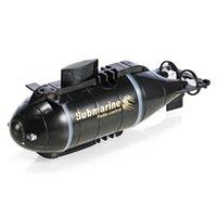 Versión actualizada HappyCow 777-216 Mini RC Submarino Barco de velocidad Control remoto Drone Pig Boat Simulación Modelo de regalo Juguete Niños Y200413