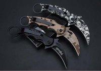 새로운 FA-30 FA30 발톱 나이프 Karambit 발톱 미니 클로 캠핑 접이식 생존 칼 크리스마스 선물 나이프 1pcs Admi