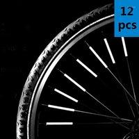 Fahrradbeleuchtung 12 stücke fahrrad berg reiten rad rand speichen mount clip tube warn licht streifen reflektor reflektierende outdoor 78mm1
