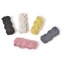 Solid Crochet Knit Headband Twist Twist Capelli intrecciati Capelli Candy Color Capanny Hairband Donne Girls Sport Make Up Band Band Braid Headwear LY12023