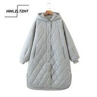HWLZLTZHT Yüksek Kaliteli Kış Ceket Kadınlar Artı Boyutu Uzun Moda Kadın Kış Coat Kapşonlu Sıcak Aşağı Ceket Parka 201127