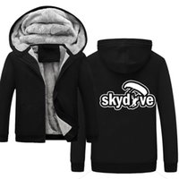 Plus Size Felpe con cappuccio TRACKSUIT 2019 Skydive Fashion Streetwear Autunno Winter Men's Hoodie