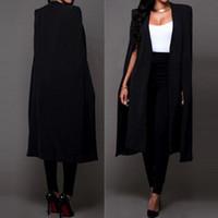 Manteaux Blazers Lancez Long Cape Blazer Blazer Cape Cardigan Outwear Trenchs Manteaux et vestes Femmes Jul27 x1214