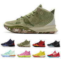 Mais novo Soft Patrick Squidward Sr. KRABS KYRIE 7 MENS Basquetebol Shoes 7s Esponja Sandy Men Treinadores ao ar livre Sapatilhas de esportes 40-46