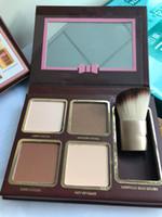 Бесплатный DHL Hot Fashion Ctour Ktour Kit 4 CColors Eyeshadow Face Makeup с Щетками Слишком высокий Бренд Модный Макияж