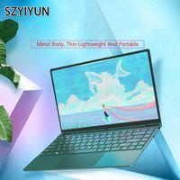 14 '' Fashion Retro Dark Green Metal Laptop Laptop 16G -6500U Slim mini portatile Gaming PC Computer Student Netbook Business Notebook1