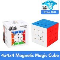 Nuevo Yuxin Original Little Magic 4x4x4 M Cube magnético 60mm Professional Zhisheng 4x4 Cubing Speed Twist Juguetes educativos para niños 201226