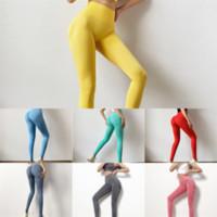 Awnq euka collants sólidos yoga calça bolso cor mulheres calças elásticas cintura esportes ginásio desgaste leggings yoga fitness senhora global