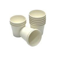 1000 x 2oz / 60 мл мини бумаги дегустация чашки белый / коричневый кофе супермаркет продвижение образца питьевой чашкой чашки