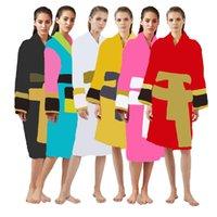 Designer Accappatoio Donne Man Unisex Sleep Robe 100% cotone di alta qualità 6 colori Vendita calda Shiping Out da DHL UPS FedEx KLW1739