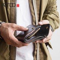 HBP Aetoo Cowhide Short Wallet Man Retro Simple Money Clip puede poner la licencia de conducir Moda Ticket Clip