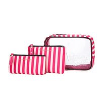 Brand Travel Women's makeup Bags Female Transparent Cosmetics Cases Bag Portable Storage Wash pack Travel organizer Toilet Bags