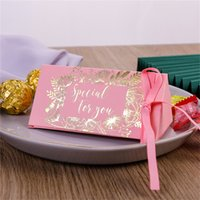 초콜릿 선물 랩 골드 도금 결혼식 축하 삼각형 사탕 상자 실크 리본 선물 포장 패션 고품질 새로운 0 33cy M2